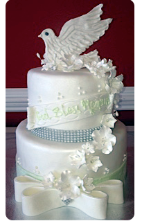 White Dove Communion Cake