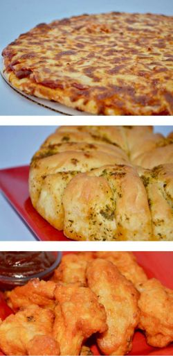 TOS Trio - homemade pizza, bread, & wings